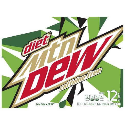 Diet Mountain Dew Caffeine Free Citrus Soda - 12pk/12 fl oz Cans - image 1 of 3