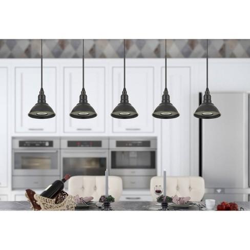 Kampia LED Dimmable Metal Pendant Fixture Dark Bronze - Cal Lighting - image 1 of 1