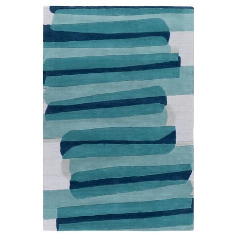 """2'7""""X8'2"""" Stripe Runner Emerald - Surya - image 1 of 1"""