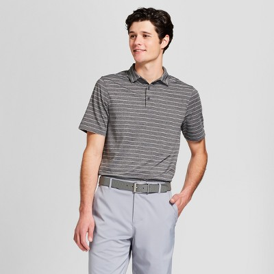 Men's Striped Golf Polo Shirt - C9 Champion® Black Heather L