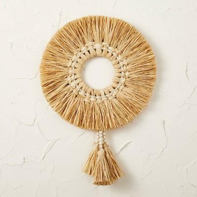 "20"" Raffia Wreath Natural - Opalhouse™ designed with Jungalow™"