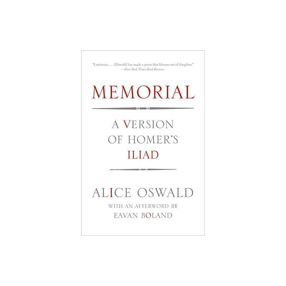 Memorial By Alice Oswald Paperback