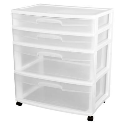 Superbe Sterilite® Ultra™ 4 Drawer Storage Cart   White : Target