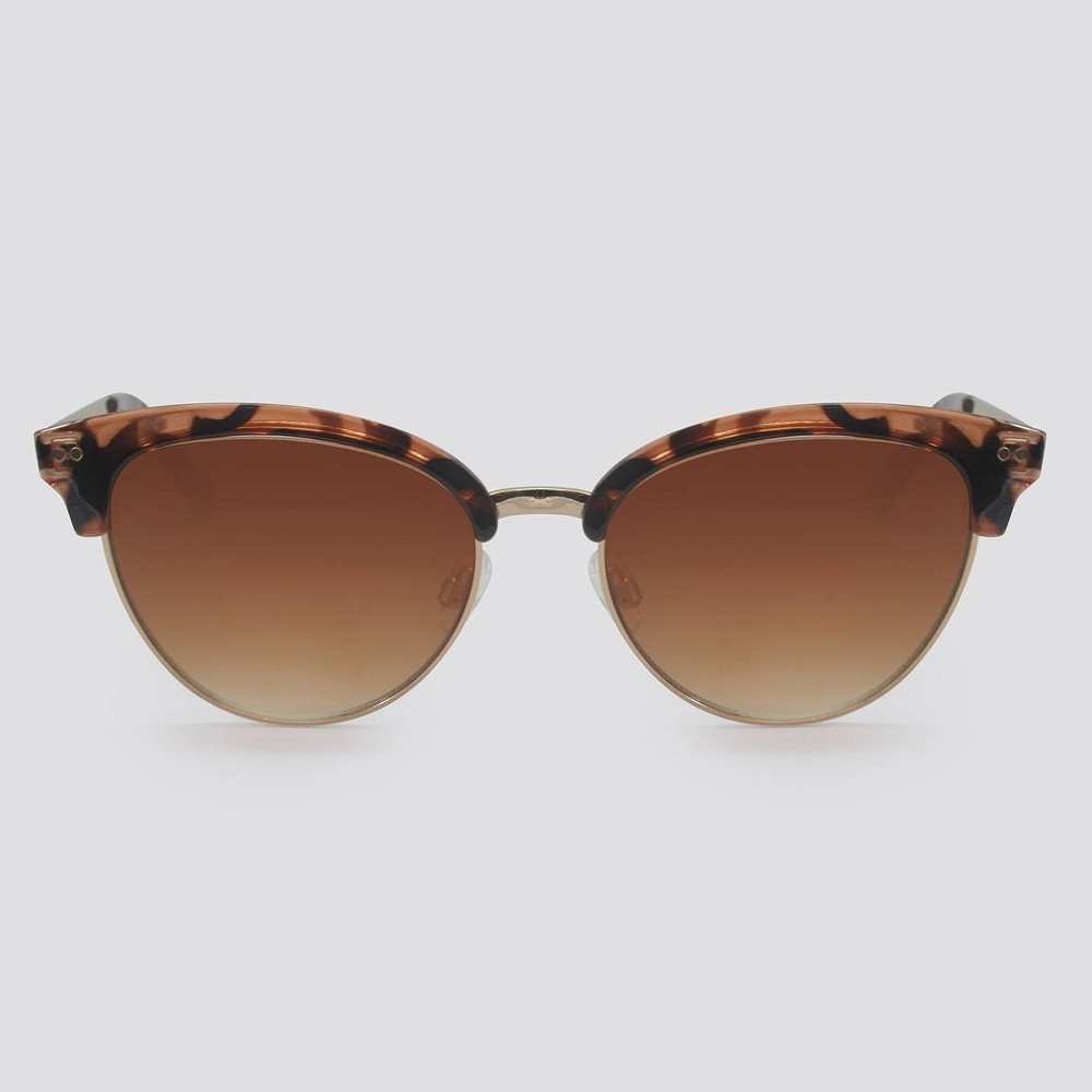 1950s Sunglasses & 50s Glasses | Retro Cat Eye Sunglasses Women39 Animal Print Cateye Platic Metal Combo unglae - A New Day8482 Brown $16.99 AT vintagedancer.com
