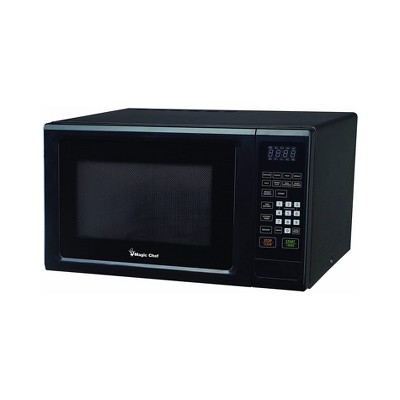 Magic Chef MCM1110B 1000 Watt 1.1 Cubic Feet Microwave with Digital Touch Controls and Display, Black