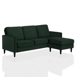 Strummer Velvet Sectional Sofa Green - CosmoLiving by Cosmopolitan