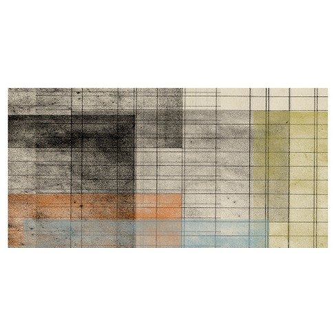 Grid Abstract 1 Unframed Wall Canvas Art - (18X36) - image 1 of 1