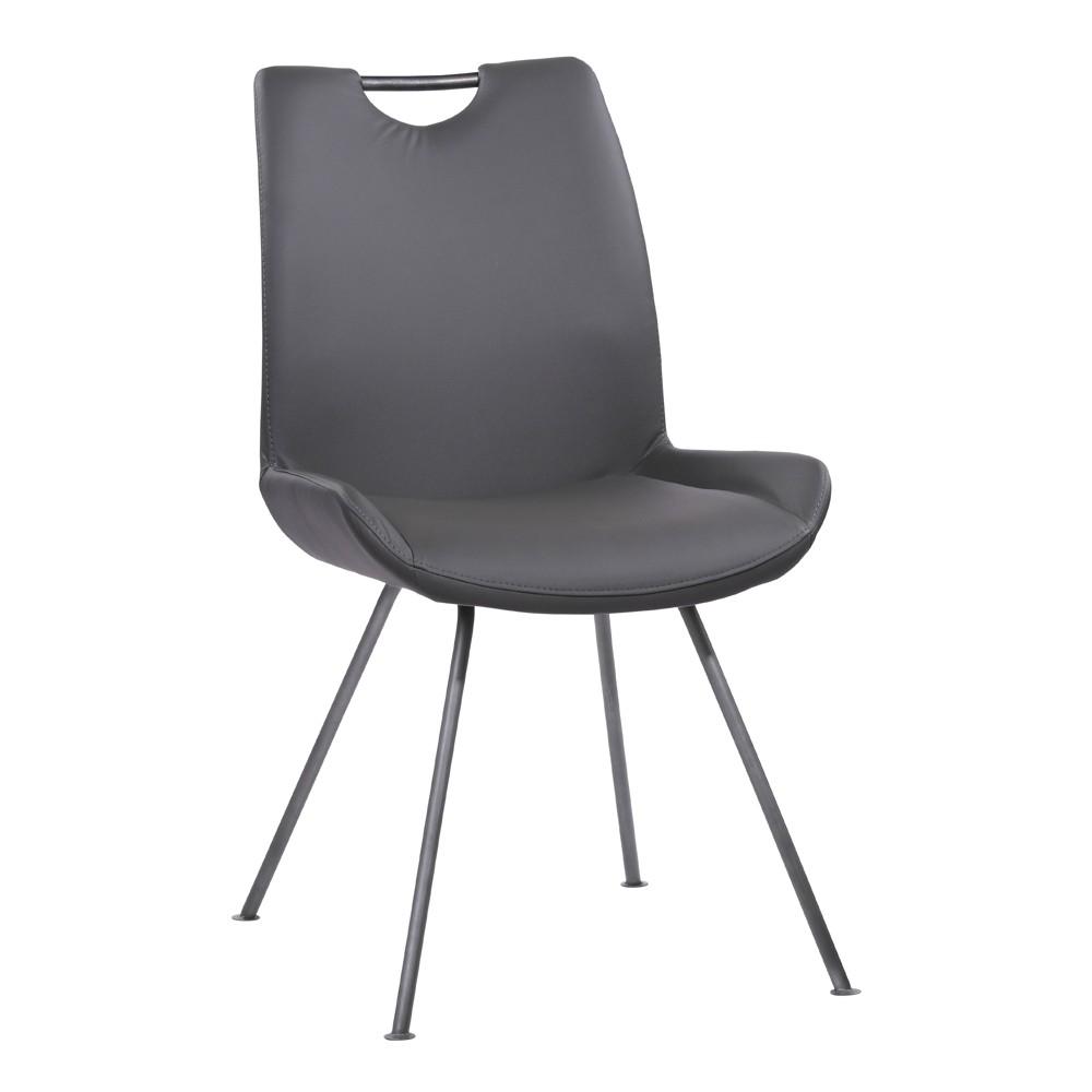 Armen Living Set of 2 Coronado Contemporary Dining Chair Gray