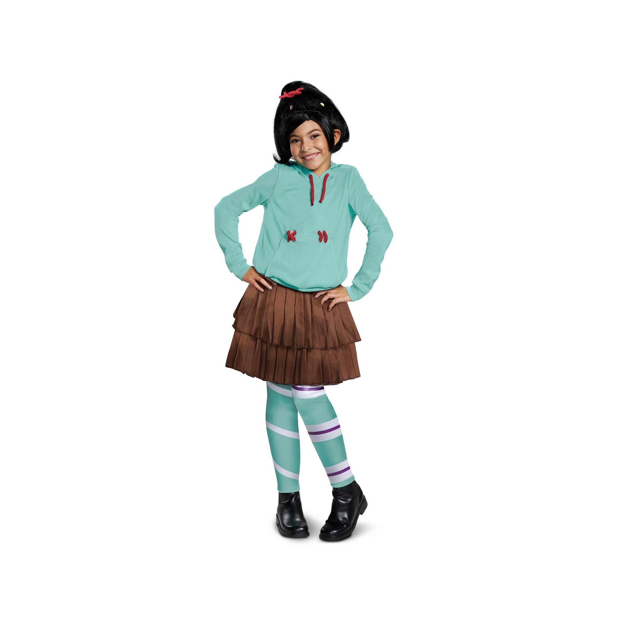 Wreck-It Ralph 2 Girls' Vanelope Deluxe Halloween Costume M - Disguise, Multicolored