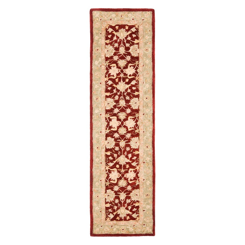 2'3X8' Floral Runner Red/Moss (Red/Green) - Safavieh