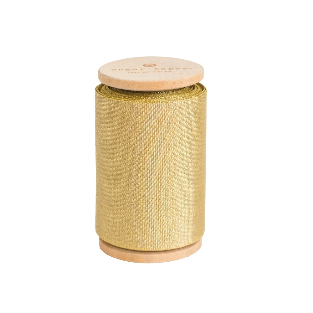2.5 Grosgrain Ribbon Gold - Sugar Paper