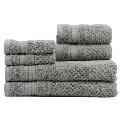 6pc Pebble Nickel Bath Towels Sets - Caro Home