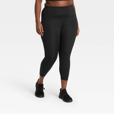 """Women's Sculpted Linear Laser Cut High-Waisted 7/8 Leggings 25"""" - All in Motion™"""