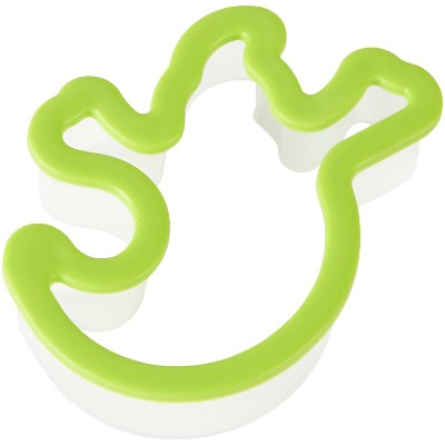 3.7  x 4.7  Silicone Grippy Ghost Cookie Cutter Green - Wilton