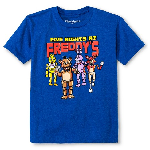 Boys' Five Nights of Freddy Group Graphic T-Shirt Royal Blue - image 1 of 1