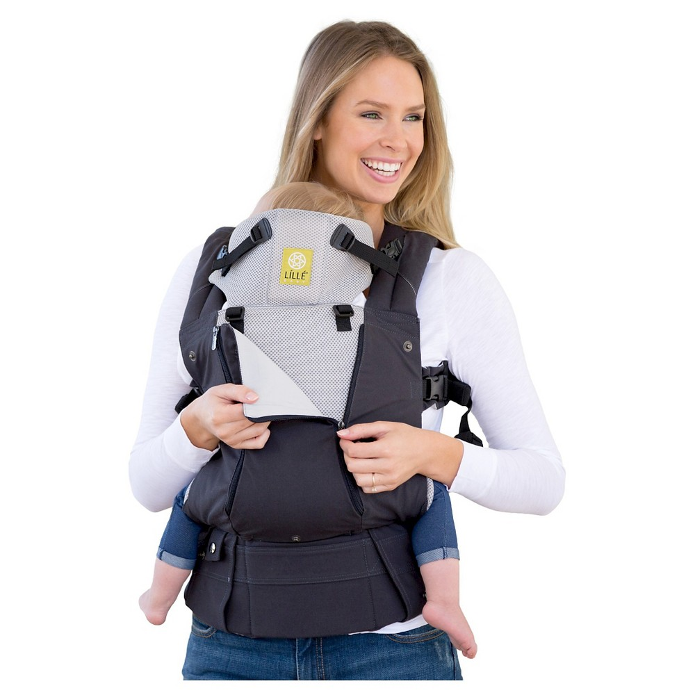 Image of LILLEbaby 6-Position COMPLETE All Seasons Baby & Child Carrier - Charcoal/Silver, Black Silver
