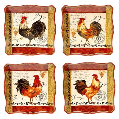 Dinner Plate 10.25  Tuscan Rooster Set of 4 - Certified International