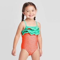Toddler Girls' Strawberry One Piece Swimsuit - Cat & Jack™ Coral