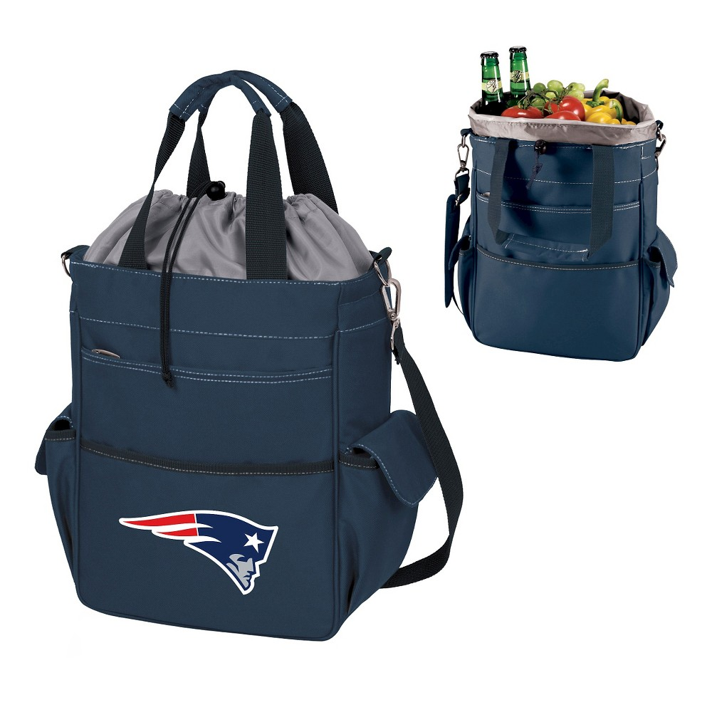 New England Patriots Activo Cooler Tote By Picnic Time Navy