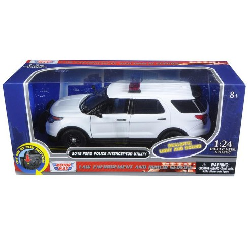 2015 Ford Police Interceptor Utility White With Target