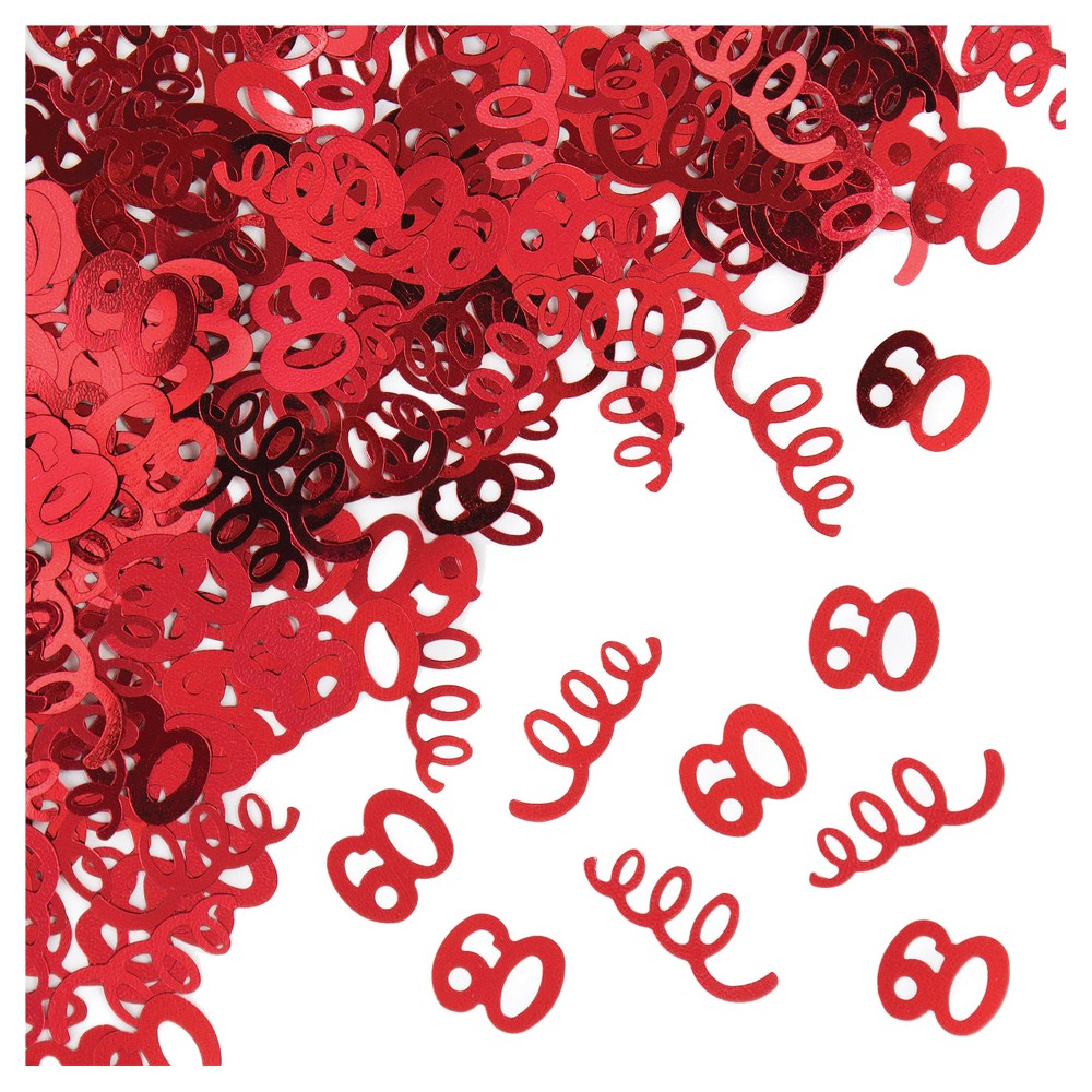 60th Birthday Confetti, Multi-Colored