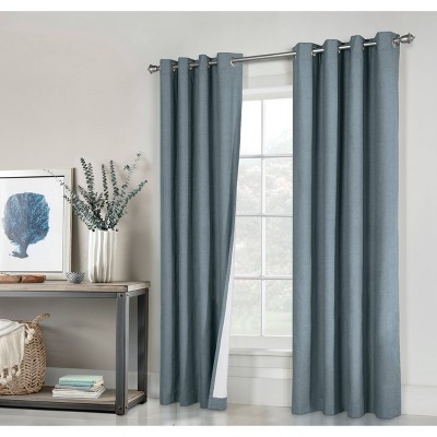 Set of 2 Suprema Grommet Top Blackout Curtain Panels - Thermaplus