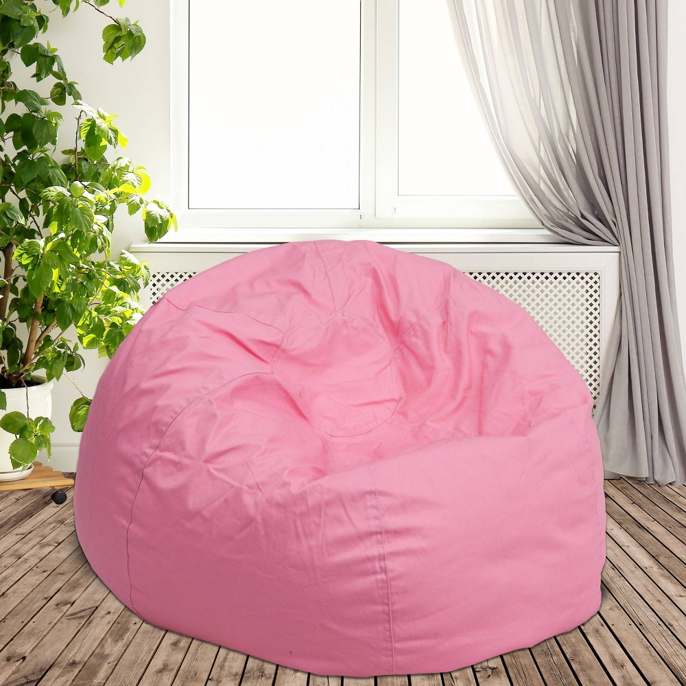 Oversized Bean Bag Chair - Pink - Flash Furniture