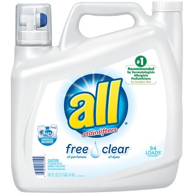 all® Ultra Free Clear HE Liquid Laundry Detergent 141oz- 94 loads