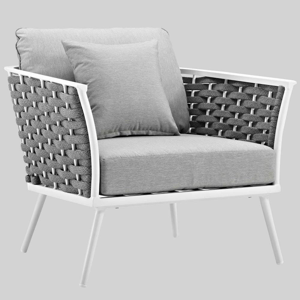Stance Aluminum Patio Armchair White Modway