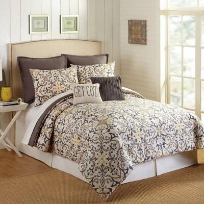 Presidio Square 7pc Madrid Comforter & Sham Set Ivory/Blue