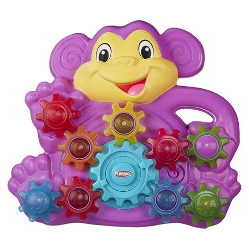 Playskool Stack 'n Spin Monkey Gears Toy - image 1 of 10