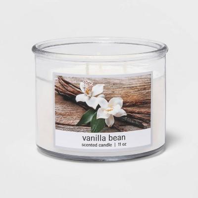11oz Glass Jar 3-Wick Vanilla Bean Candle