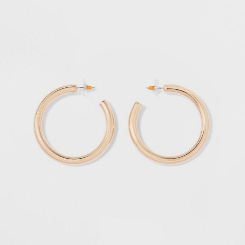Thick Hoop Earrings - A New Day™ - image 1 of 2