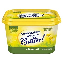 I Can't Believe It's Not Butter! Vegetable Oil Spread Olive Oil - 15oz