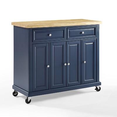 Madison Kitchen Cart Navy - Crosley
