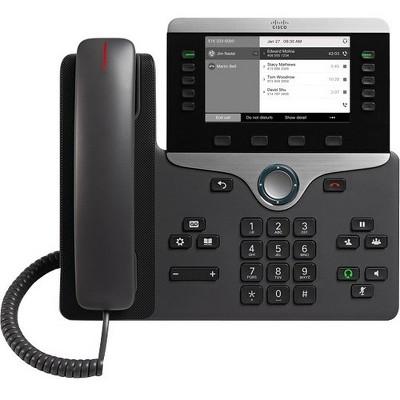 Cisco 8811 IP Phone - Wall Mountable - Black - VoIP - Caller ID - SpeakerphoneUser Connect License - 2 x Network (RJ-45) - PoE Ports