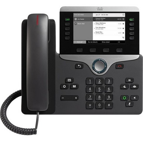 Cisco 8811 IP Phone - Wall Mountable - Black - VoIP - Caller ID - SpeakerphoneUser Connect License - 2 x Network (RJ-45) - PoE Ports - image 1 of 1