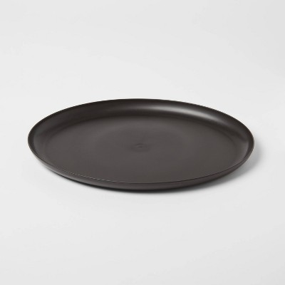 "12"" x 15"" Plastic Oval Serving Platter Black - Room Essentials™"
