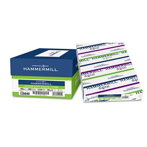 Hammermill Copier Digital Cover Stock 60 lbs. 18 x 12 Photo White 250 Sheets 120040 - image 1 of 1