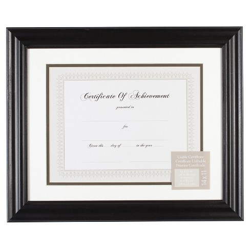 "Gallery Solutions 11""x14"" Certificate Frame - Black - image 1 of 4"