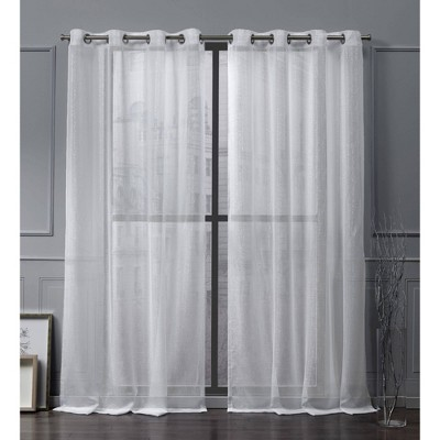Iceland Grommet Top Sheer Window Curtain Panels - Exclusive Home
