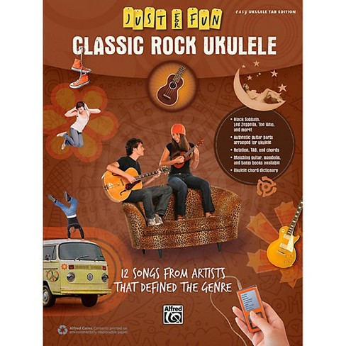 Alfred Just for Fun Classic Rock Ukulele Book - image 1 of 1