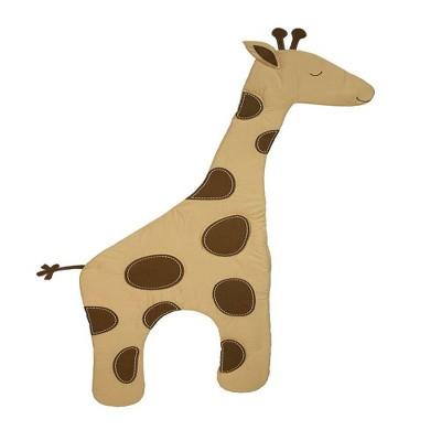 NoJo Dreamy Nights Large Giraffe Soft Wall Decor - Shades of Soft Beige and brown