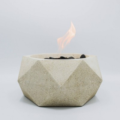 Geo Table Top Outdoor Fire Bowl - Natural - Terra Flame