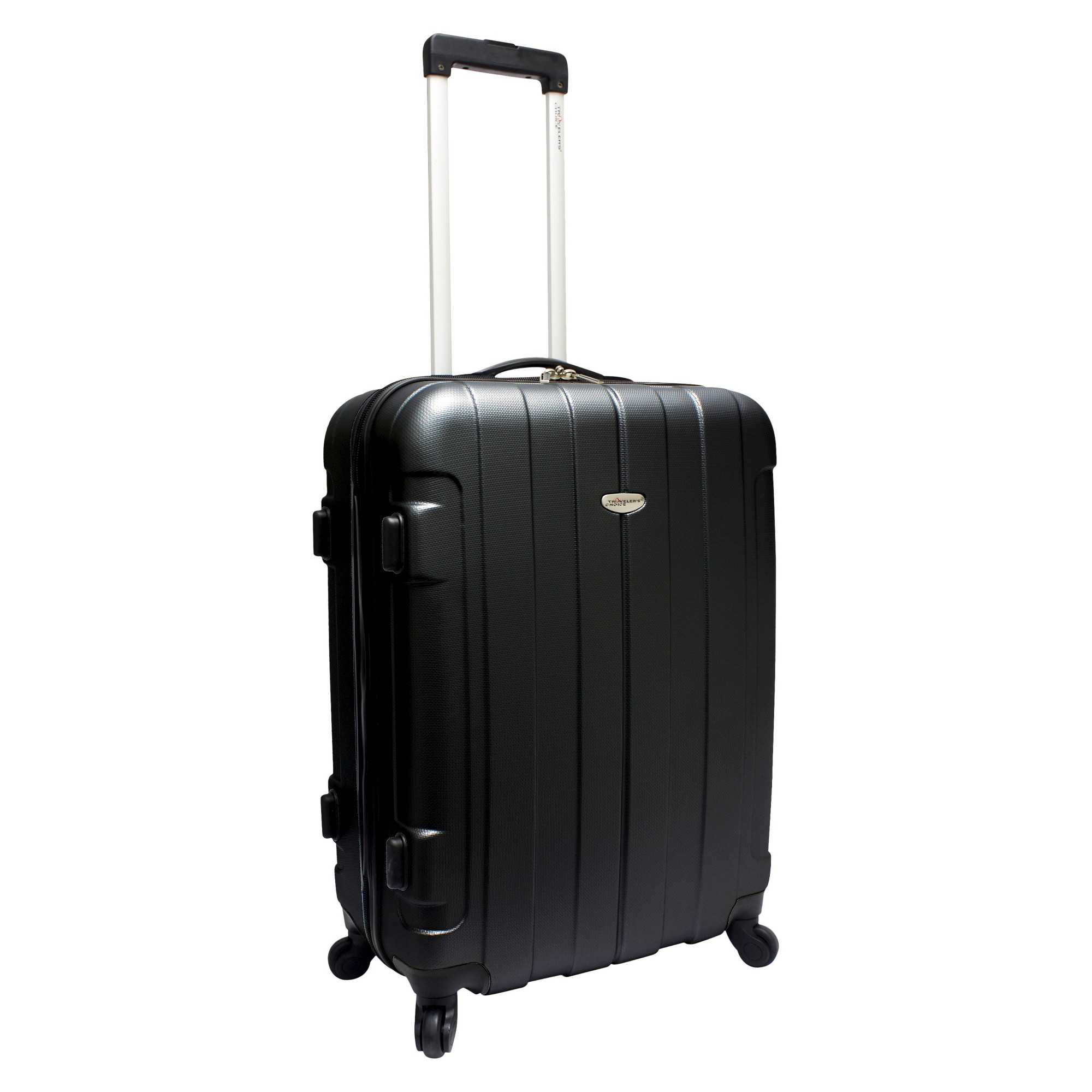 'Traveler's Choice Rome 25'' Suitcase - Black, Size: Small'