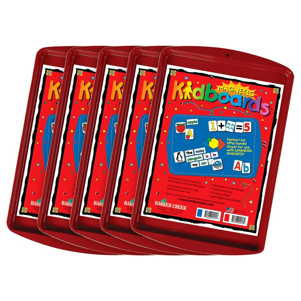 Image of Barker Creek KidBoards Magnet Board 5ct - Red