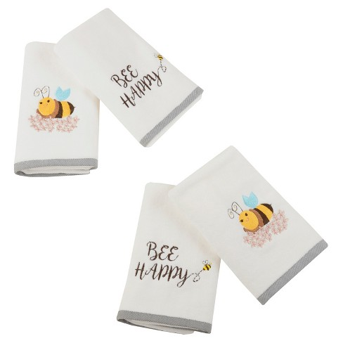 Happy Honey Cotton Assorted Hand Towel Set White - image 1 of 1