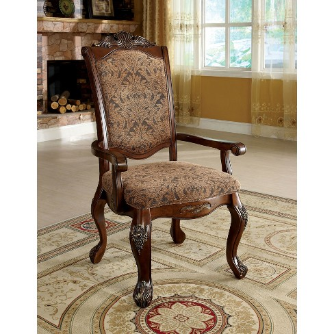 Sun Pine Elegant Claw Feet Carved Arm Chair In Antique Cherry Set Of 2 Target