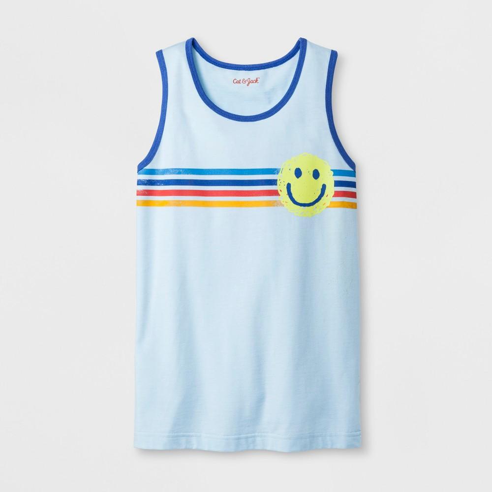Boys' Smiley Face Tank Top - Cat & Jack Aqua Xxl, Blue