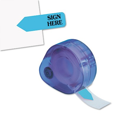 """Redi-Tag Arrow Message Page Flags in Dispenser """"Sign Here"""" Blue 120 Flags/Dispenser 81034"""